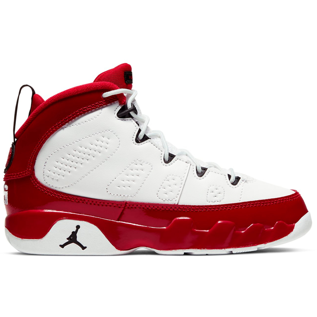 Jordan 9 Retro White Gym Red (PS)