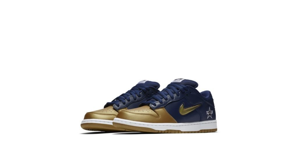 Nike SB Dunk Low Supreme Jewel Swoosh Gold