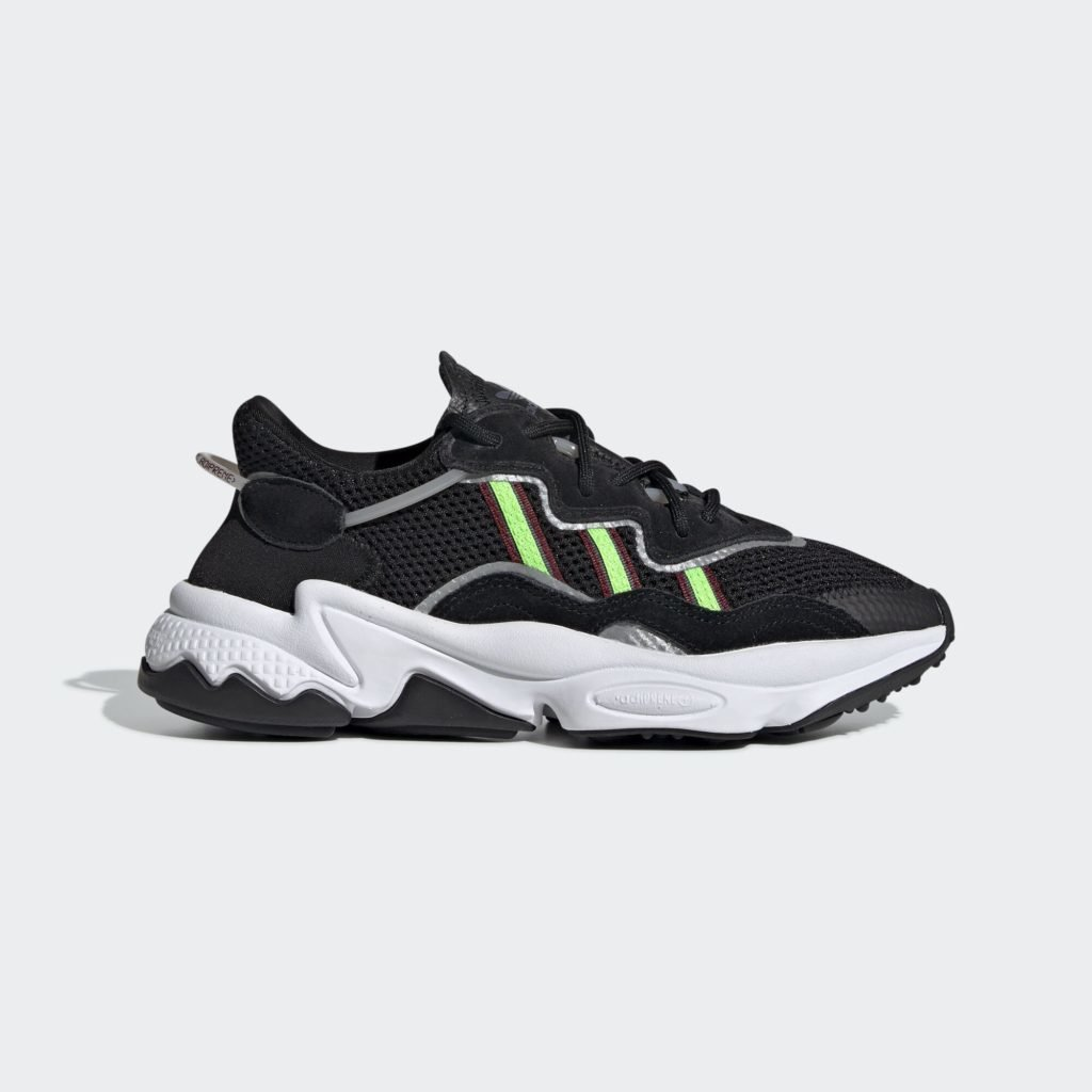 adidas Ozweego Core Black Solar Green (GS)