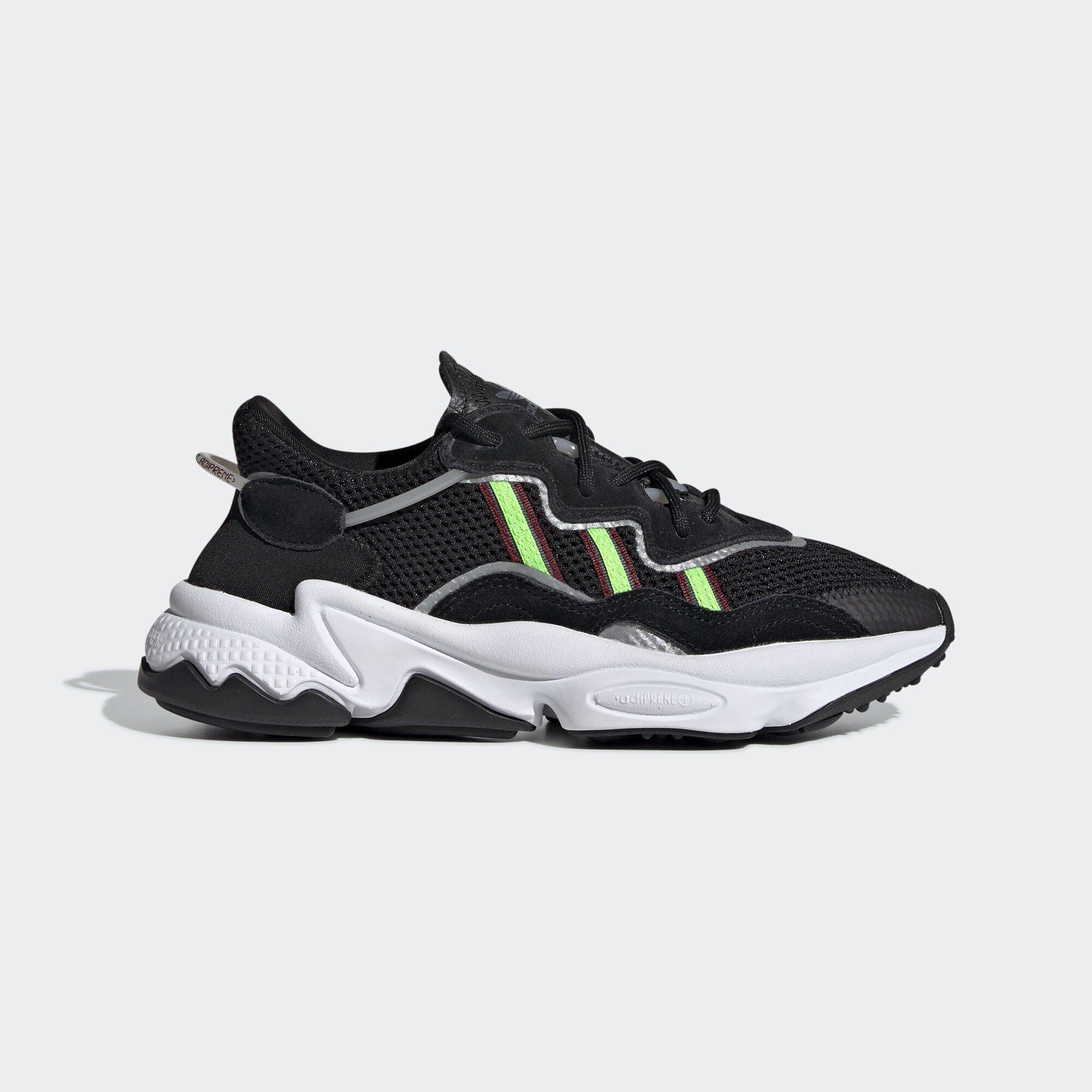 adidas Ozweego Core Black Solar Green (GS) (EE7772)