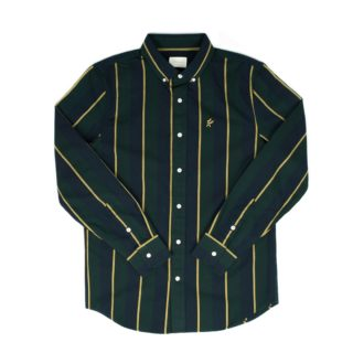 Aimé Leon Dore Vertical Stripe Oxford Shirt (Slate Blue Combo)