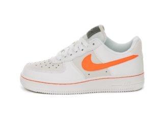 Nike Wmns Air Force 1 Low (White / Total Orange - Platinum Tint)