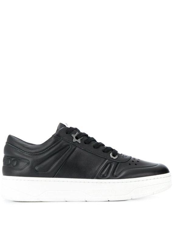 Jimmy Choo Hawaii sneakers met plateauzool – Zwart