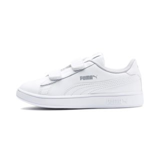 Smash v2 Leather Kids' Trainers (Wit)
