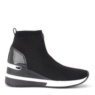 Michael Kors Michael Kors Skyler Ankle Boot In Black Technical Fabric (zwart)
