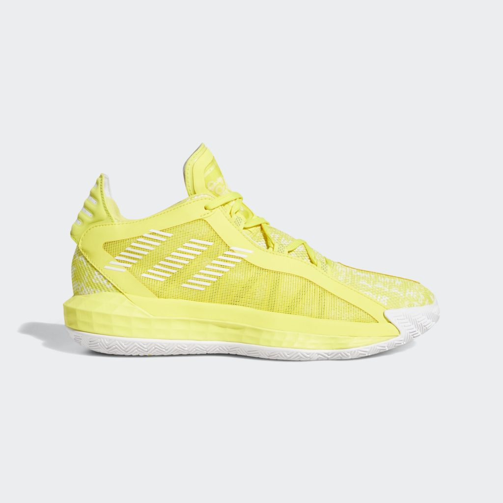 adidas Dame 6 Shock Yellow White