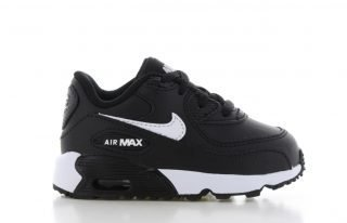 Nike Air Max 90 Leather Zwart/Wit Peuters