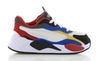 Puma RS-X³ Puzzle Wit/Blauw/Geel Kids