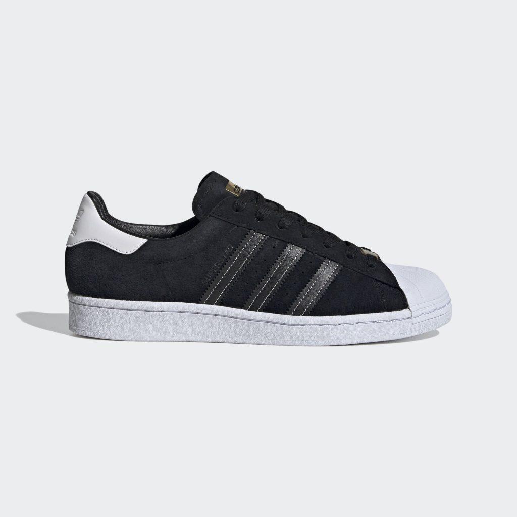 adidas Superstar Black Suede White