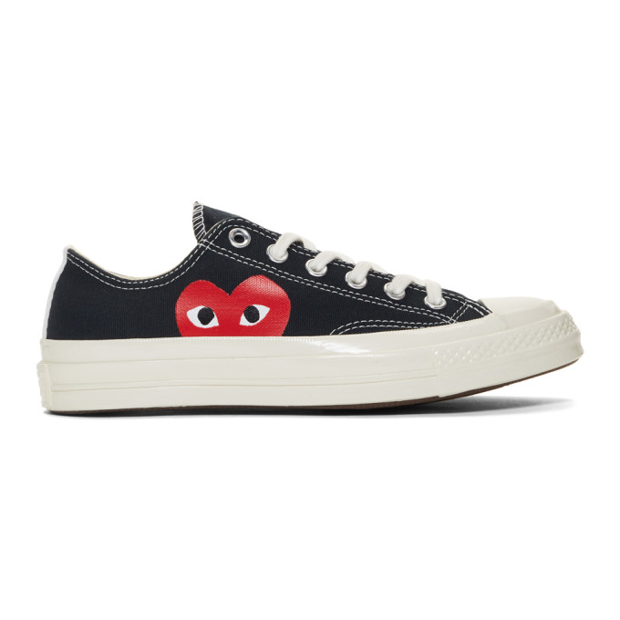 Comme des Garcons Play Black Converse Edition Half Heart Chuck 70 Low  Sneakers